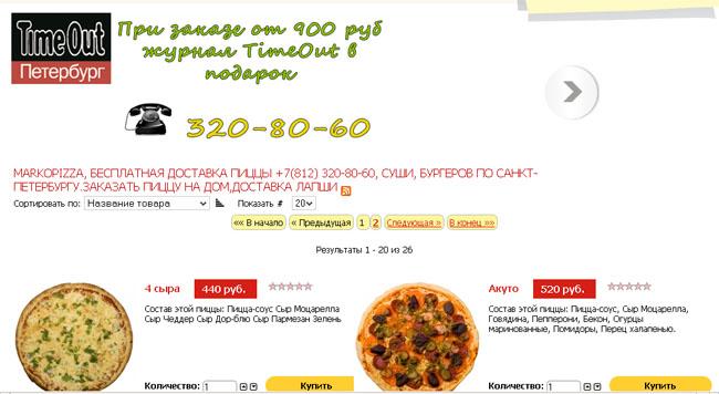 пример хорошого юзабилити для сайта по доставке пиццы