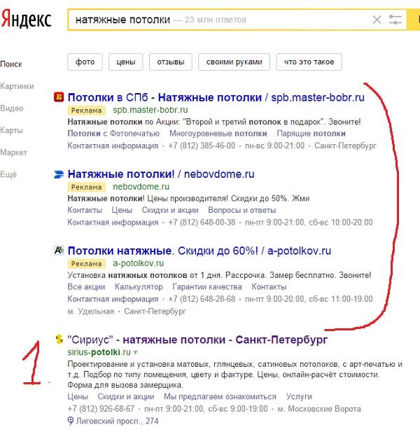Как выводятся сайты в ТОП-3 Яндекса или как обмануть клиента