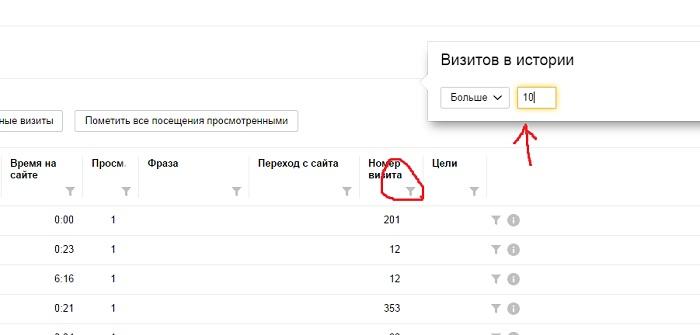 Закладочный трафик в Яндекс.метрике