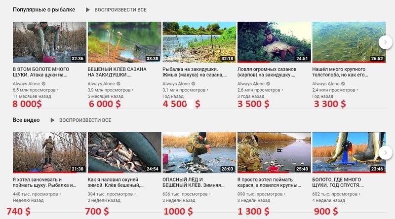 Интересный ютуб-канал на 600 000 зрителей